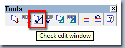 Check Edit Window